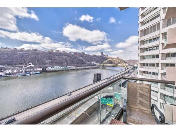 Beautiful Views of the Monongahela River and Beyond from your Balcony