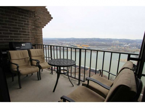 Spacious Balconies with Beautiful Views of the City of Pittsburgh