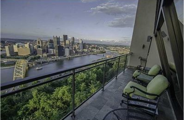 Enjoy Gorgeous Views of Downtown Pittsburgh from your Balcony
