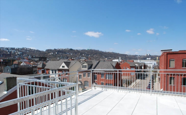 Rooftop View of the South Side Neighborhood