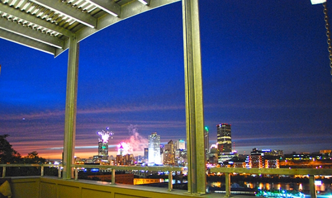Sit On Your Balcony And Take In The Golden Triangle at Night