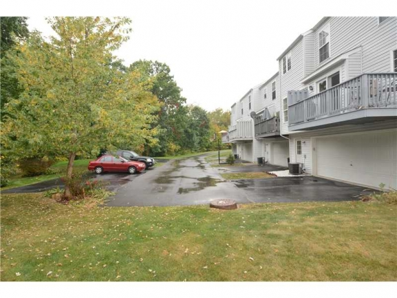 Rear of Townhome with Additional Parking