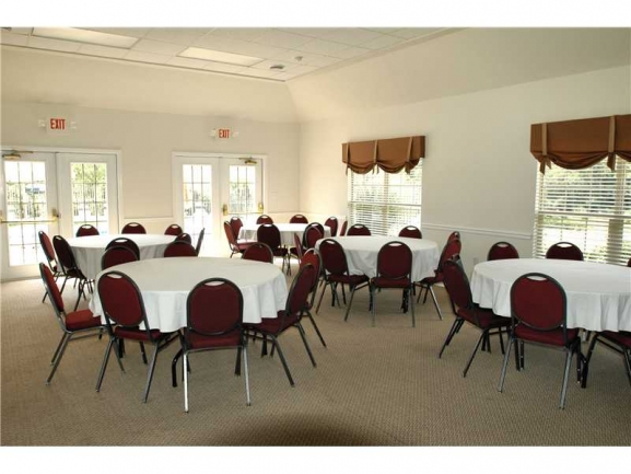 Inside Community Center. Great for hosting a party or family gathering.
